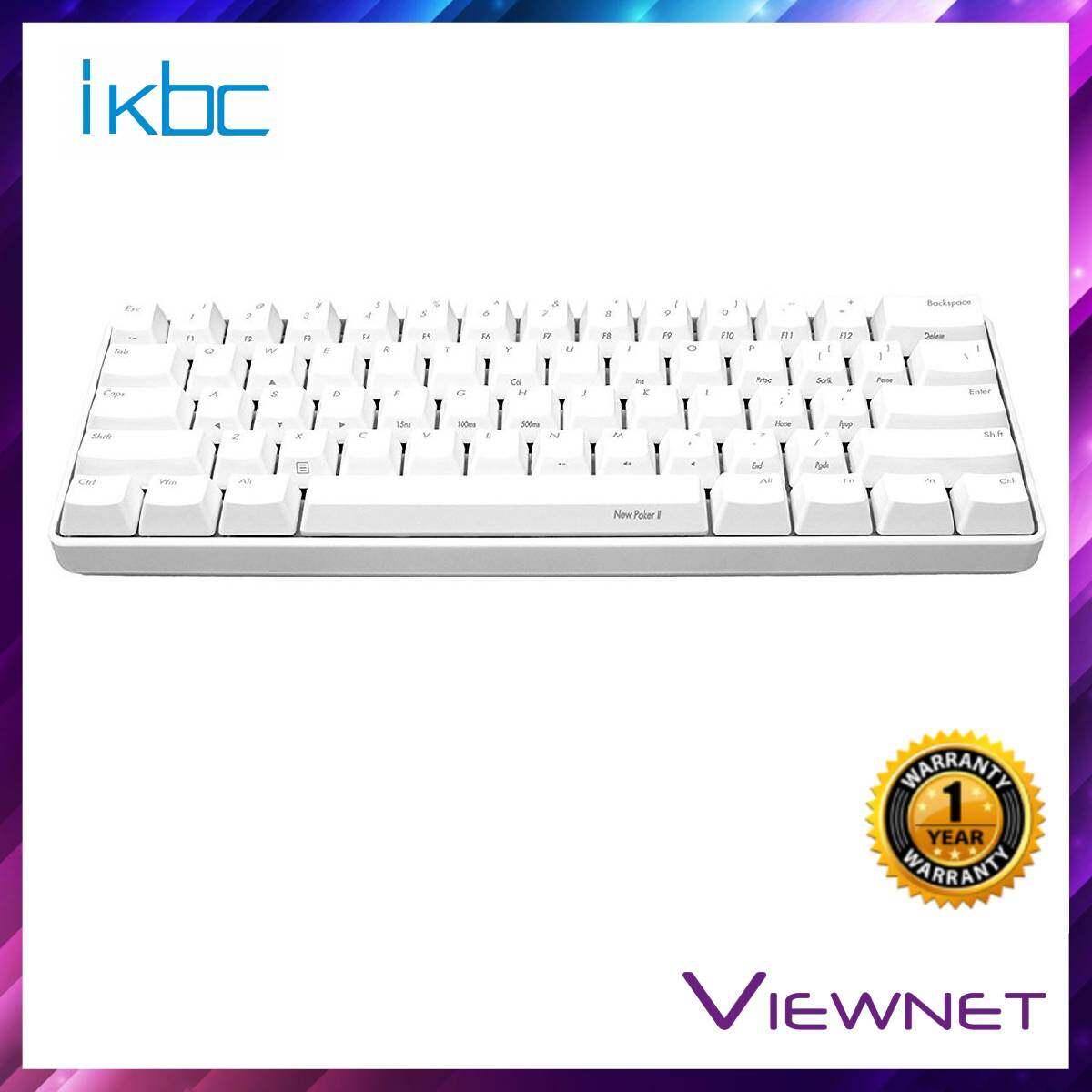 IKBC Gaming Wired New Poker II (Blue/Red Switch) White Keyboard