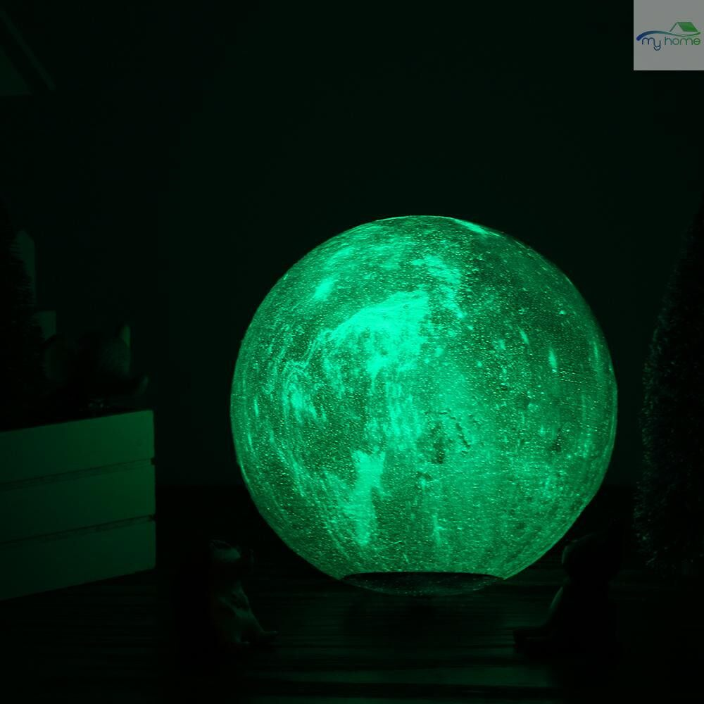 Lighting Fixtures & Components - 20cm/7.9in 3D Printing Star Moon Lamp USB Led Moon Shaped Table Night Light with Base 16 Colors - MULTICOLOR-20CM / MULTICOLOR-18CM / MULTICOLOR-15CM / MULTICOLOR-13CM / MULTICOLOR-10CM / MULTICOLOR-8CM