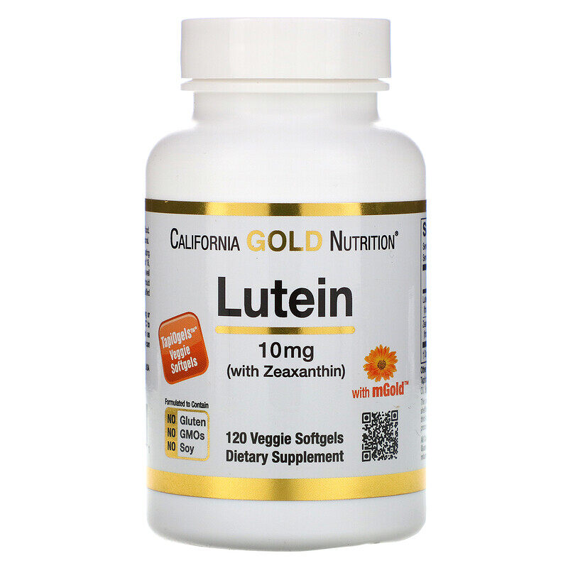? California Gold Nutrition, Lutein with Zeaxanthin, 10 mg, 120 Veg Softgels