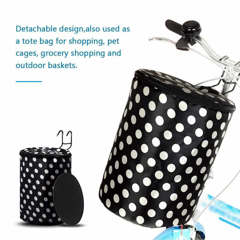 Best Selling Bicycle Basket Bike Front Hanging-Basket with Drawstring Closure Water-Resistant Bike Handlebar Carr-ier Frame Bag (3)