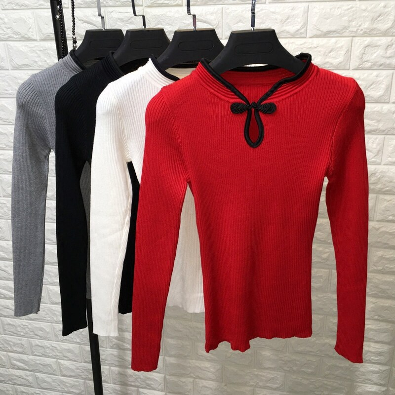 (PRE ORDER) WOMEN CNY CHINESE COLLAR TOP WITH LONG SLEEVE