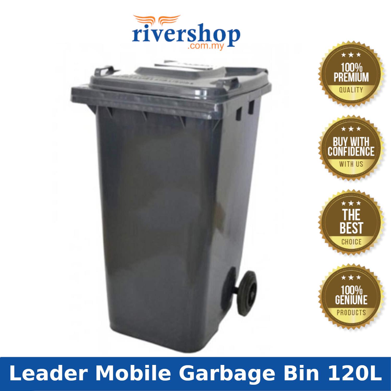 Leader 120L Mobile Garbage Bin with Wheel BP 120/ Compost Wastebin Dustbin / Tong Sampah Beroda Serbaguna , Rivershop