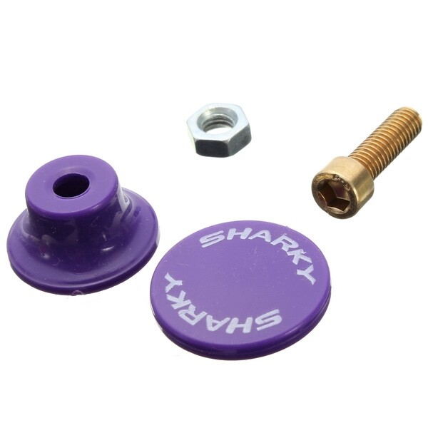 Moto Accessories - 6mm Motorcycle Scooter License Plate Colorful Screws - LIGHT YELLOW / YELLOW / PURPLE / BLUE / PINK