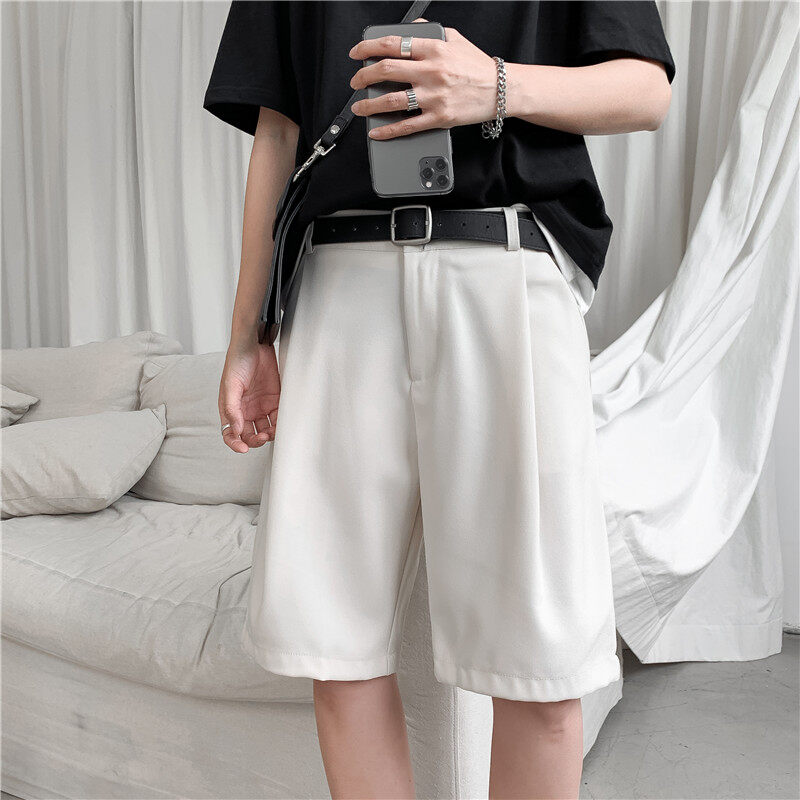 (PRE ORDER) MEN\'S KOREAN TREND INS CASUAL SHORT LOOSE STRAIGHT PANTS