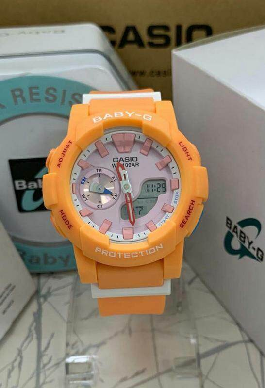 {SHOCKING SALE} CASIO_BABY_G_BGA-185 Full Set Dual Time Display Resin Women\'s Watch New Fashion & Affordable Price