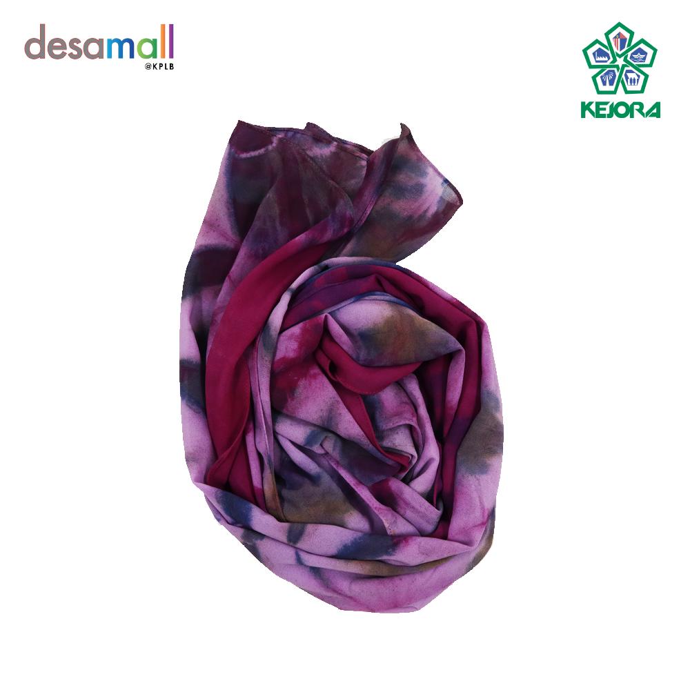 NORLI Shawl Batik Tie & Dye Base Color: Purple