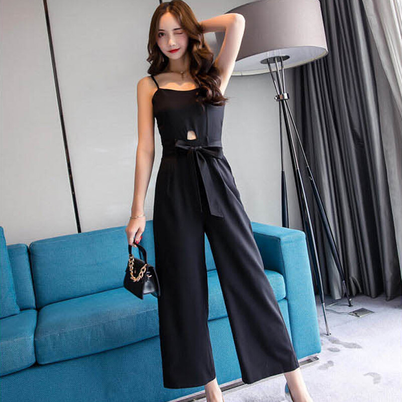 (PRE ORDER) WOMEN FASHION V-NECK HOLLOW CUTOUT PLAYSUIT