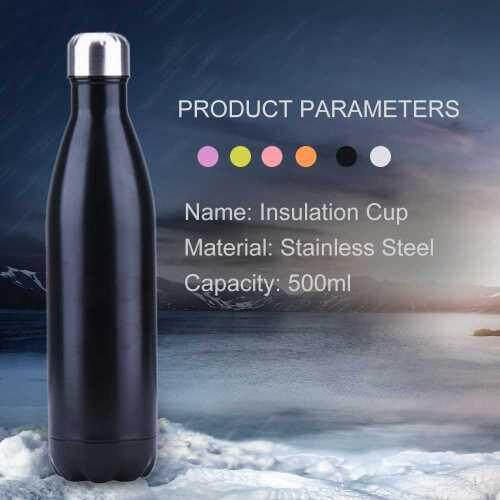 Water Bottle With Vacuum Insulated Stainless Steel (Black)