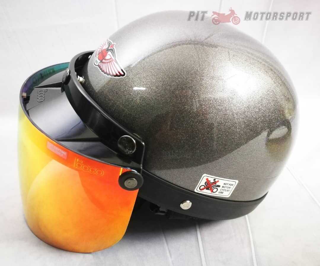 Grey MHR Half Cut Helmet / MHR 3 Helmet KYT Arai Size L SGV AGV LS2 X-dot Givi Taichi Alpinestar NLK R15 Y15 RS150 LC135 FZ150