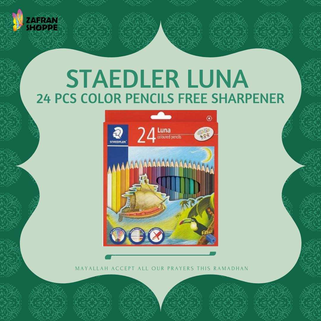 [BEST SELLER] STAEDTLER LUNA Coloured Pencils ( 24 Colour ) + Free Sharpener