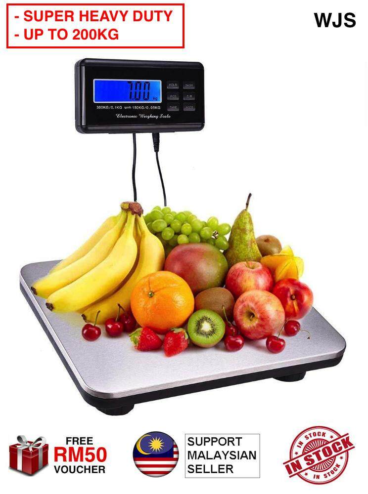 (BLUETOOTH + WATERPROOF) WJS Bluetooth Heavy Digital Weighing Scale Industrial Scale For Heavy Item Switchable Weight Module Marketplace Scale Fruits Scales Platform Scale 200KG / 120KG / 60KG [FREE RM 50 VOUCHER]