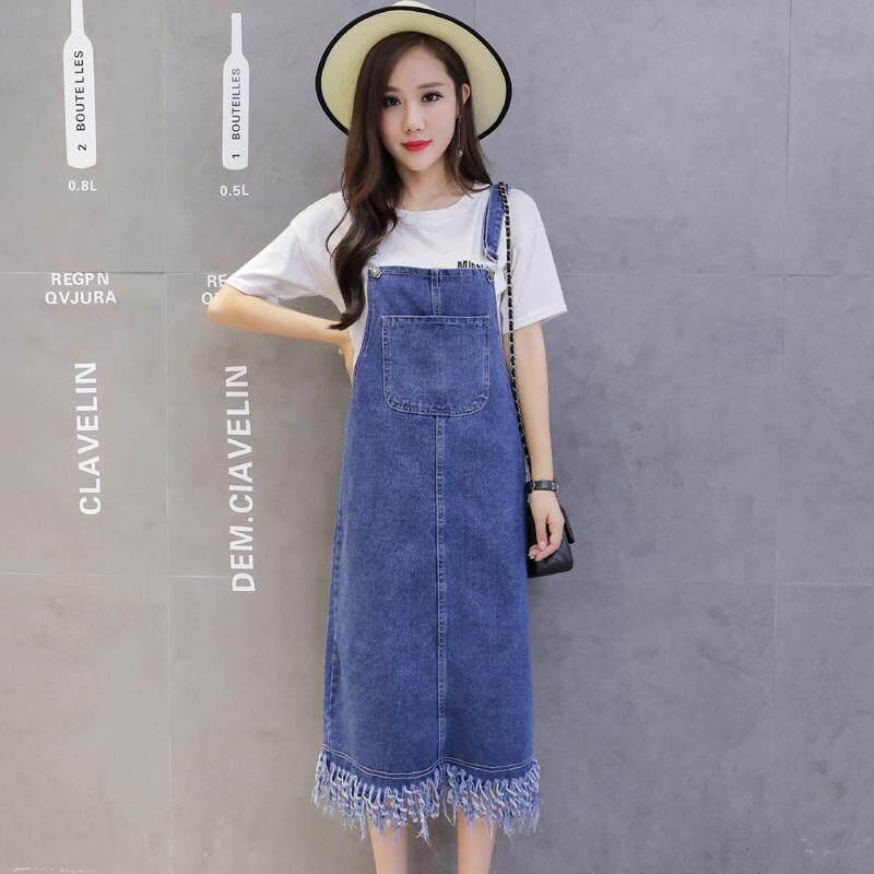 JYS Fashion Korean Style Women Jeans Strap Dress Collection 513-3788