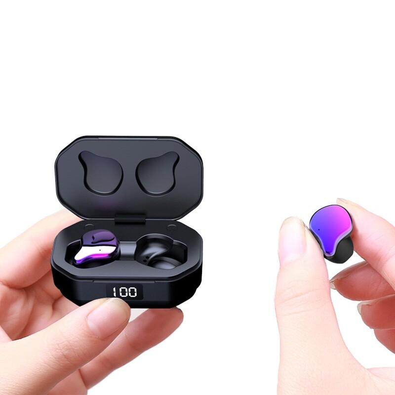 On-Ear Headphones - G01 BLUETOOTH 5.0 Earphone Gradation Graphene HiFi Heavy Bass Stereo Smart Touch 2000mAh - BLACK / GRADIENT