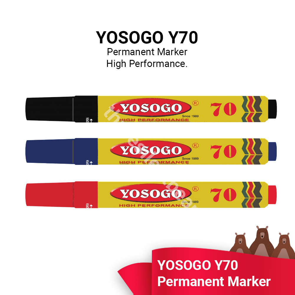 YOSOGO Y70 PERMANENT MARKER - READY STOCK - FAST SHIPPING - VALUE BUY