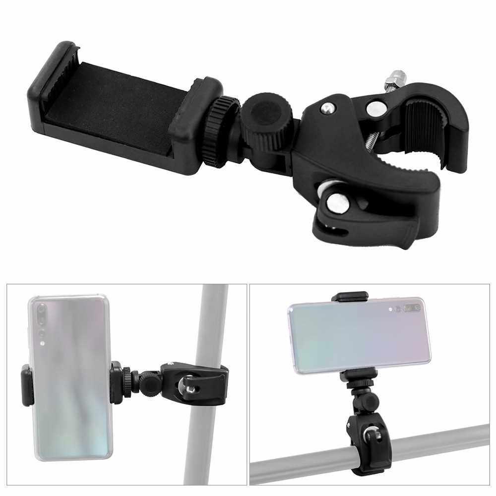 Universal 360 Degree Rotatable Phone Holder Adjustable Bike Phone Mount for Bicycle Motorcycle Handlebar Handrail (Standard)