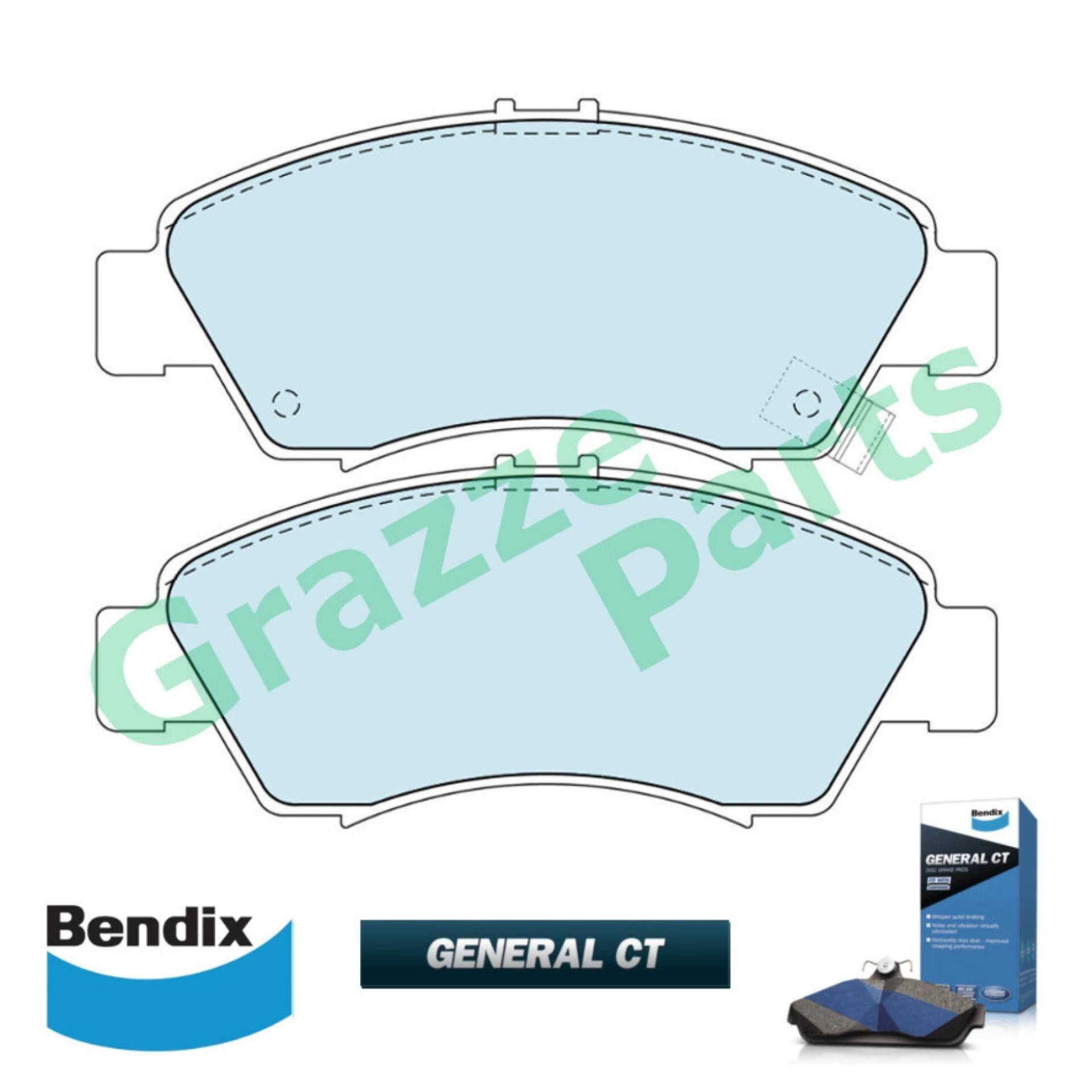 Bendix General CT Disc Brake Pad Front for DB1262 - Honda City SEL Jazz Civic SR4 SO4