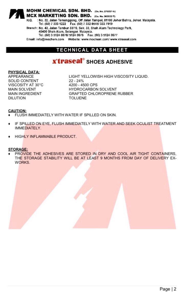 X'traseal Shoe Adhesive