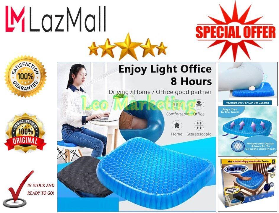 Leo Marketing 100% Original 100%Original 3D Cooling Grid Egg Sitter Imported Gel Flex Car, Home & Office Seat Cover Soft Silicone Honeycomb Design