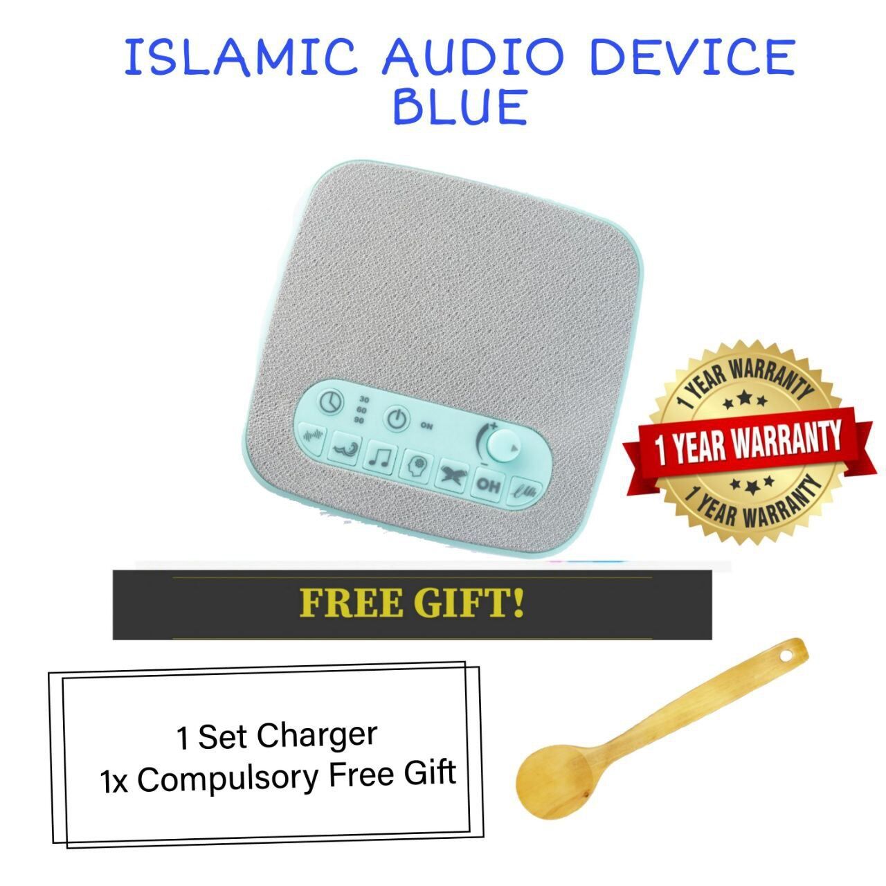 (READY STOCK) ISLAMIC AUDIO DEVICE MOMMYHANA X OMAR HANA (BLUE) (2)