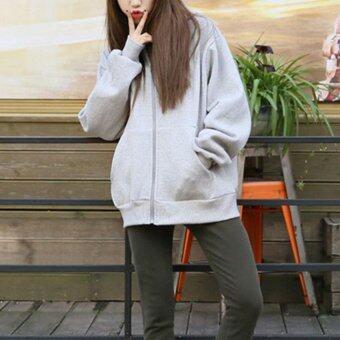 2017 New Fashion Women Oversize Sweater Warm Hoodie Sweatshirt M(gray) 885dab6ad2