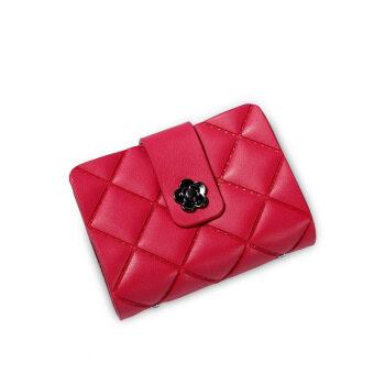 26 Card Slot Genuine Leather Women ID Card Holder Classic Plaid Business Card Holder Mini Handy
