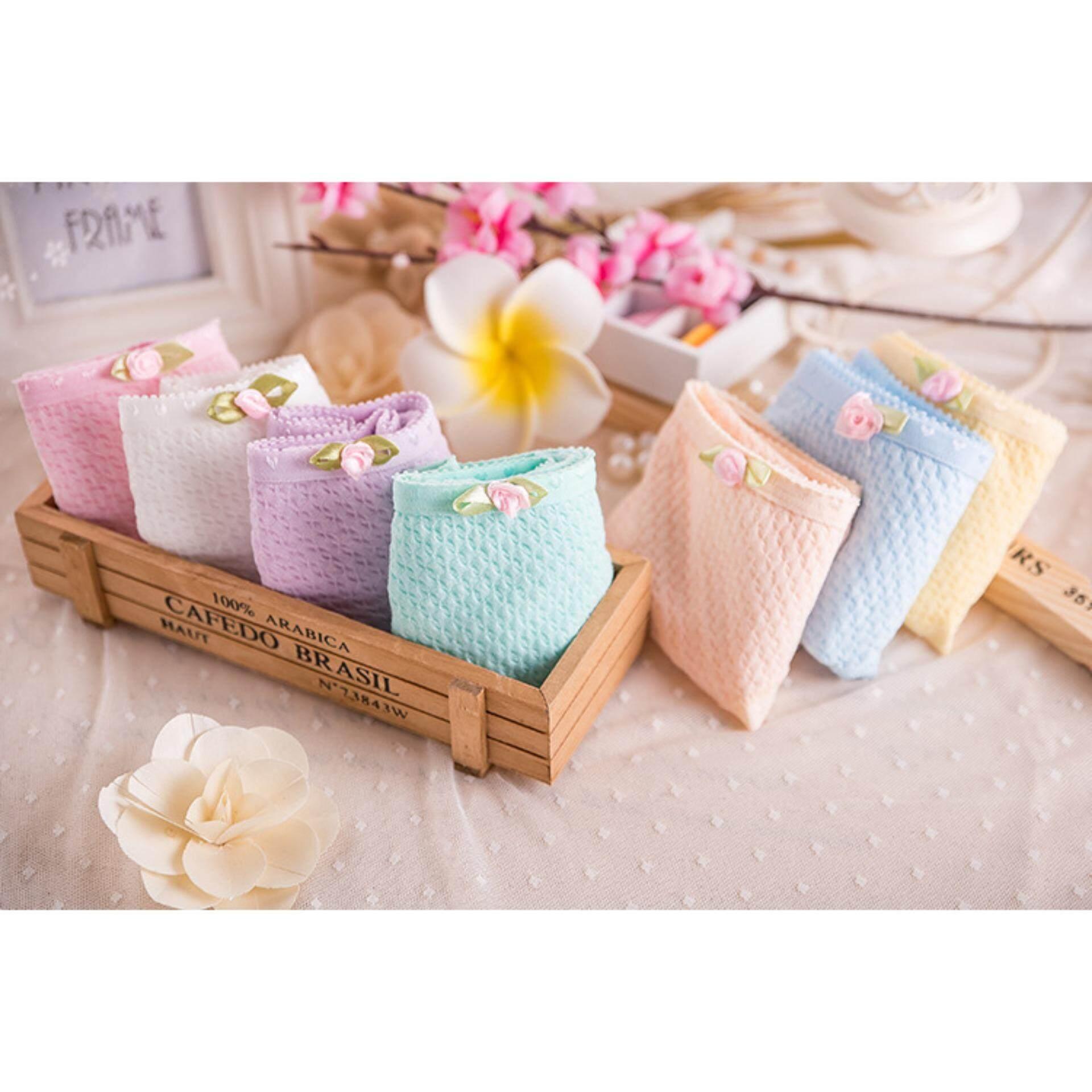 5 Pieces Soft Cotton Comfortable Bamboo Material Candy Colours Women Ladies Panties Underwear Seluar Dalam Wanita