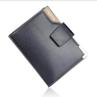 Amart Korean Men PU Leather Multifunction Wallet Zipper Coin Pocket Purse Cards Holder Hasp Wallet Small