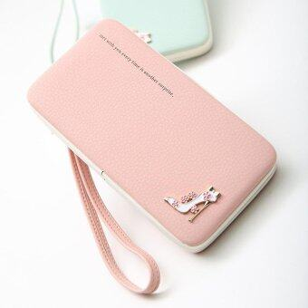 Harga Amart Lovely Lady Wallets Long Wallets Purses Clutch Bags PhoneCase For iPhone 6 Plus Lady Cute Coin Purse (Pink)