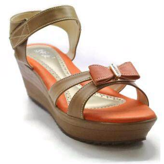 Harga Amber Walk Lady Ribbon Flat Sandal- 37272 (Almond Orange)