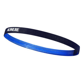 AONIJIE Men and Women Sports Running Hair Bands Anti-slip ElasticRubber Sweat Headband (Dark Blue)