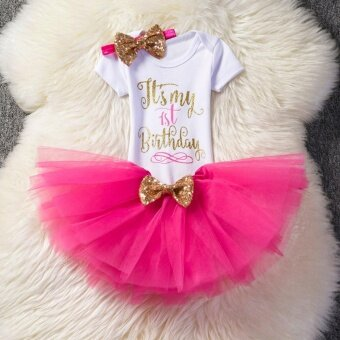 Baby Girl 1 Year 2 Years Old Birthday Dress Cute Girls Summer Party Princess