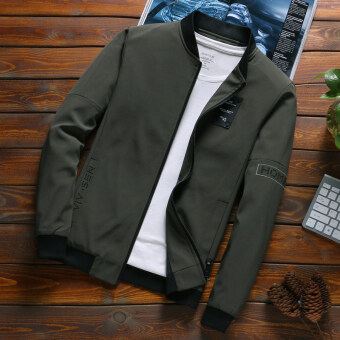 BfXiao Qing new Men new slim-fit Men in JACKET (Army Green) (