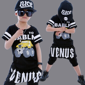 Boy's suit performing children clothing street dance costumes children hip hop clothes