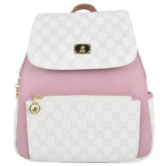 Harga British Polo Elegant Backpack White