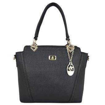Harga British Polo Women Classic Shoulder Bag (Black)