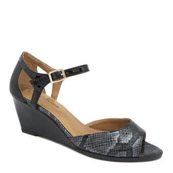 Harga Carlo Rino 333041-081-08 Wedges Sandals (Black)