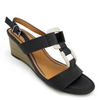 Harga Carlo Rino 333041-096-08 Wedges Sandals (Black)