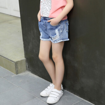 Korean hot Pants girls denim Short (Hole denim shorts) (Hole denim shorts)
