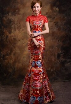 Harga Chinese wedding dress beauty cheongsam