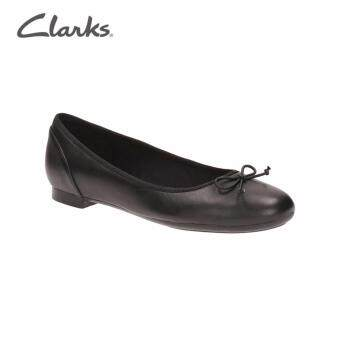 Clarks Couture Bloom Womens Ballerina Flats (Black Leather)