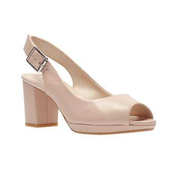 Clarks Kelda Spring Womens High Heels (Nude Leather)
