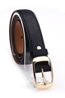 Cyber Big Discount Fashion Skinny Women Leather Belt (Black)