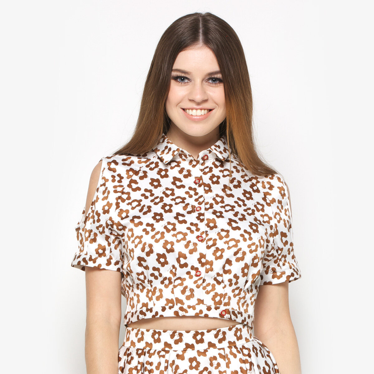 DA+PP Blouse - Cheetah Patterned Youngsters Tops (S)