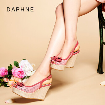 Daphne sweet bow-accent cutout back Sandals (Coral red 119) (Coral red