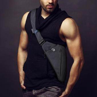 Harga Digital Man Inclined Bag Multi-function One Shoulder Canvas Chest Package Right Hand User (Right Shoulder))