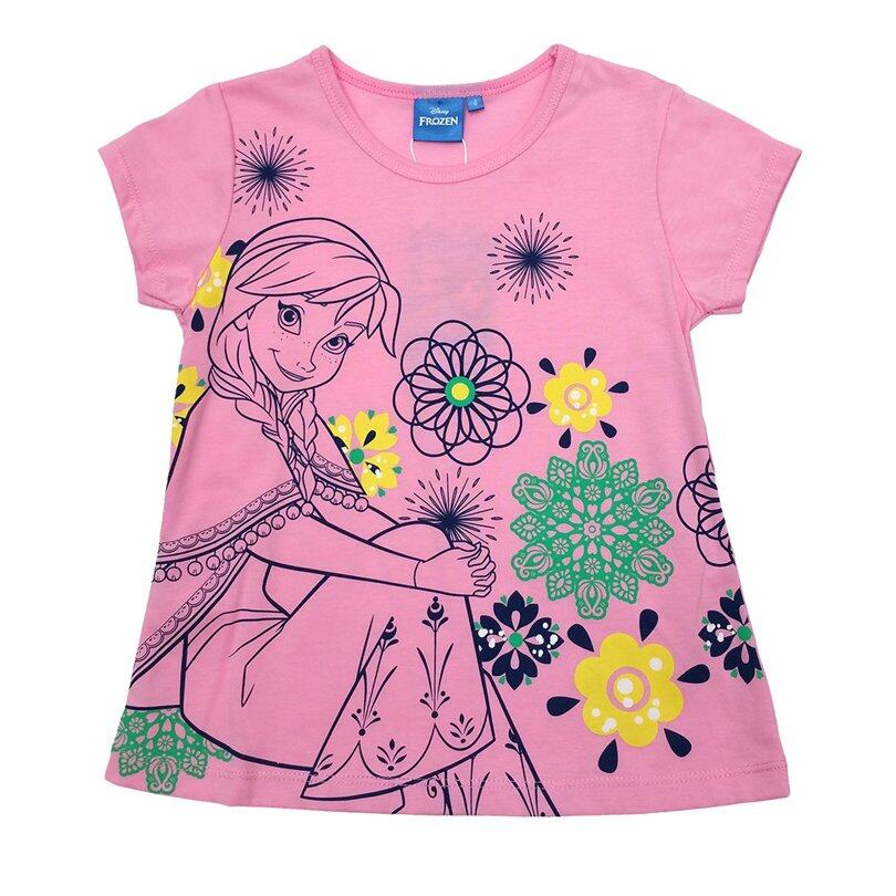 Disney Princess Frozen Kids T-Shirt 100% Cotton 3yrs to 12yrs - Anna