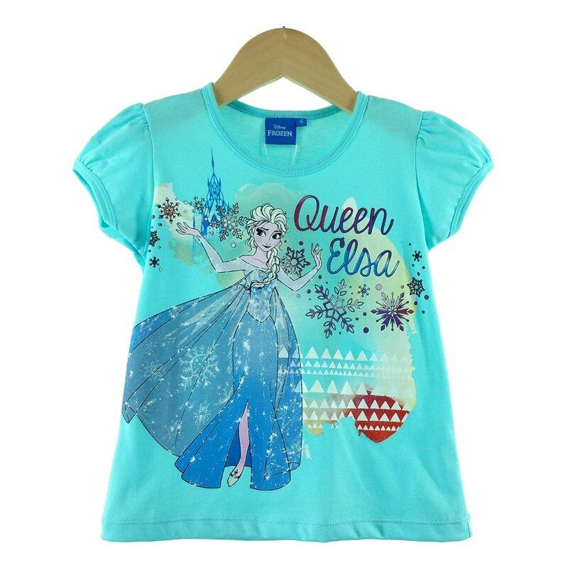 Disney Princess Frozen Kids T-Shirt 100% Cotton 3yrs to 12yrs - Queen Elsa