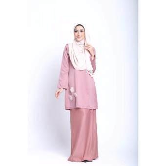 Elara Kurung Modern Dusty Pink