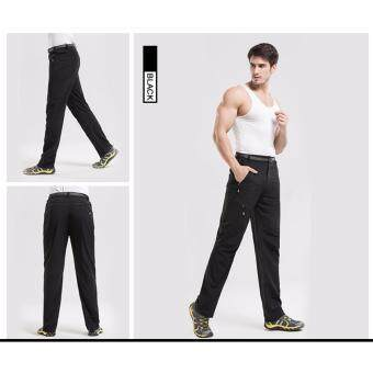 Facecozy Men Summer Quality Outdoor Sports Pants Quick Dry Breathable Pants Wearable Trousers Hiking&Camping Sportswear(