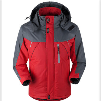 Harga Fashion Mens Waterproof Windproof Outdoorwear Mountain Snow Jacket(Red)